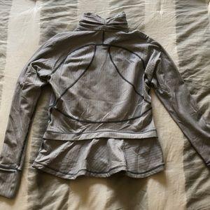 lululemon athletica Tops - White and grey lululemon track jacket